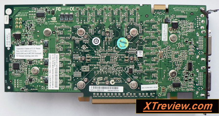 XFX GeForce 8800 GTS 640 Mb DDR3 back side