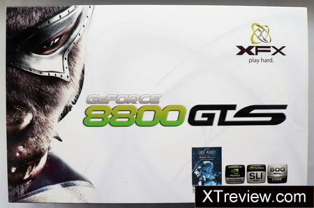 XFX GeForce 8800 GTS 640 Mb DDR3 box
