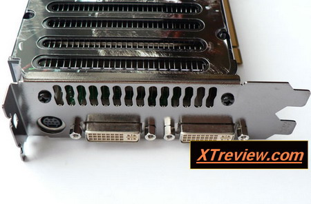 XFX GeForce 8800 GTS 640 Mb DDR3 rear pannel