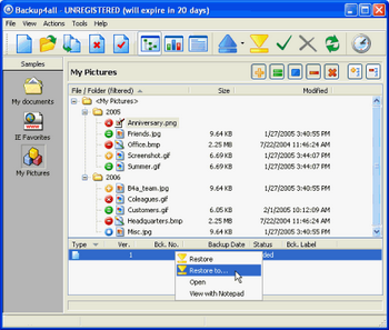 Backup4all v.4.0 Build 130