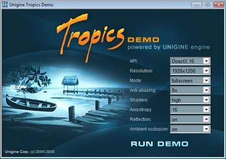 Unigine tropics demo