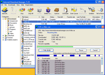 Internet Download Manager v.5.1.2 Build 10